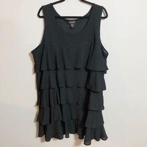 Lane Bryant Black Tiered Ruffle Dress